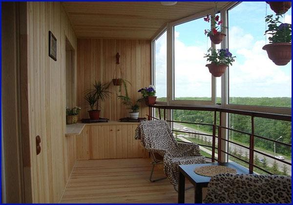 Внутренняя отделка балконов и лоджий Сургут 1