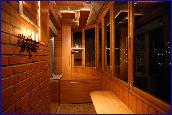 Внутрення отделка балконов и лоджий вагонкой Сургут