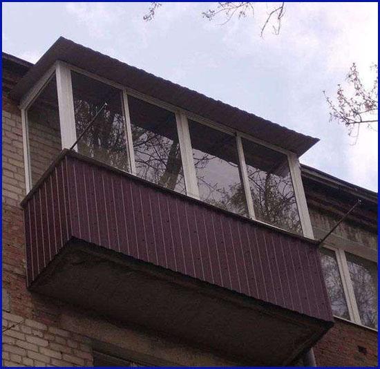 Наружная отделка балконов и лоджий Сургут