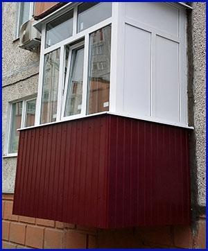 Наружная отделка балконов и лоджий 1