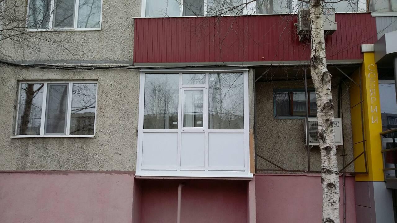 Остекление балконов Энергетиков 29 После