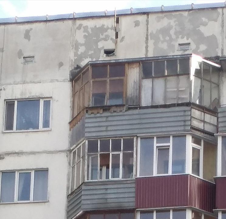 Остекление балконов Студенческая 11 До установки рамы