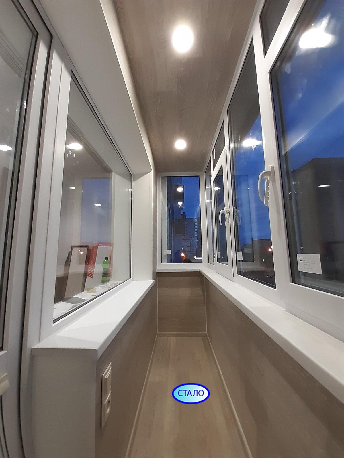 ул. Энергетиков 15 Установка пластиковых окон на балконе Фото 6