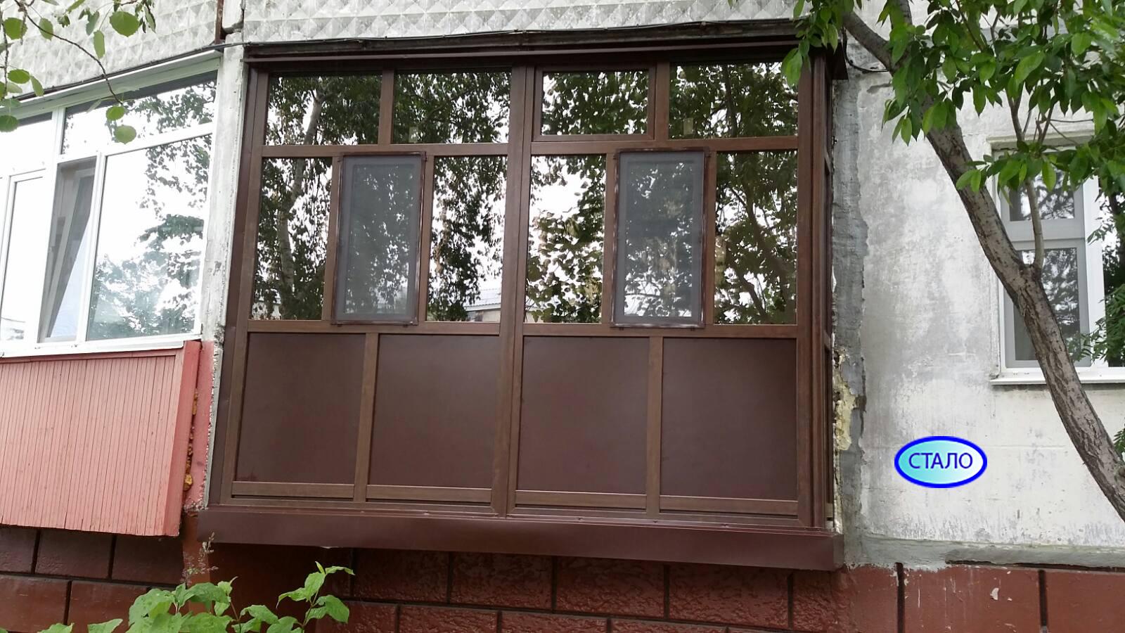 ул. Бажова 19 Установка пластиковых окон на балконе Фото 3