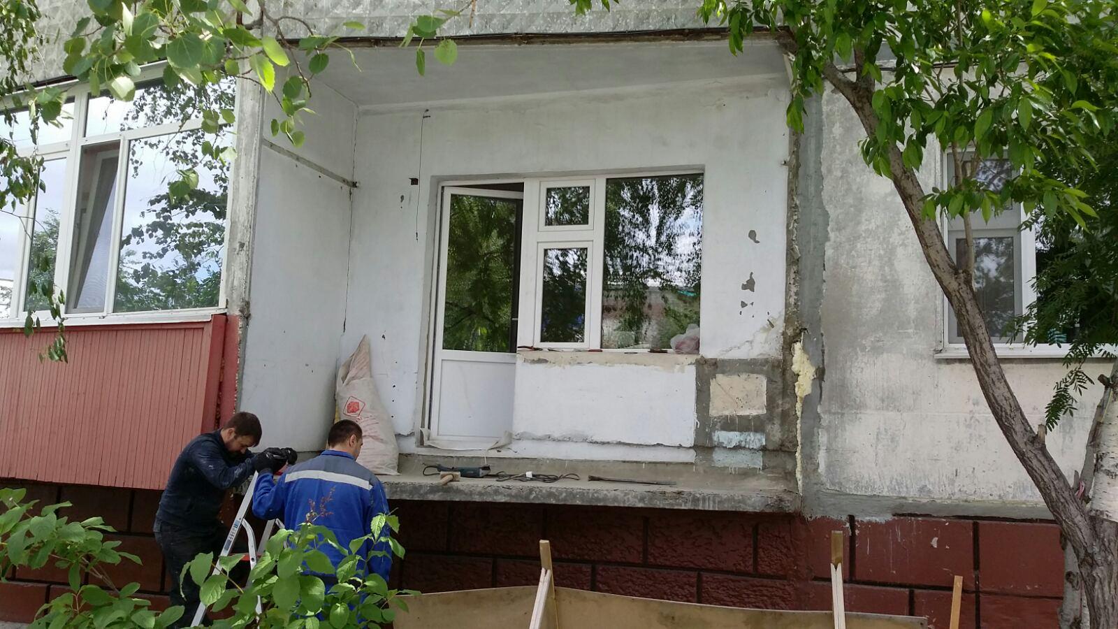 ул. Бажова 19 Установка пластиковых окон на балконе Фото 2