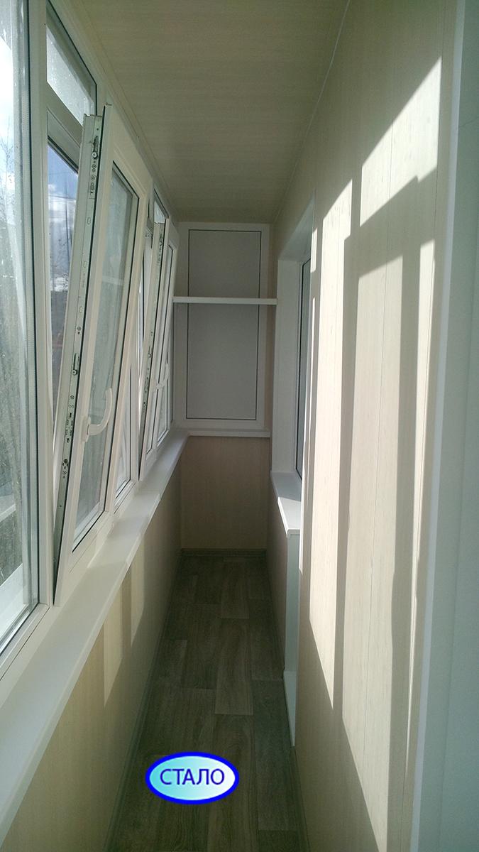 Балкон после ремонта Сургут Просвещения 15 Фото 1
