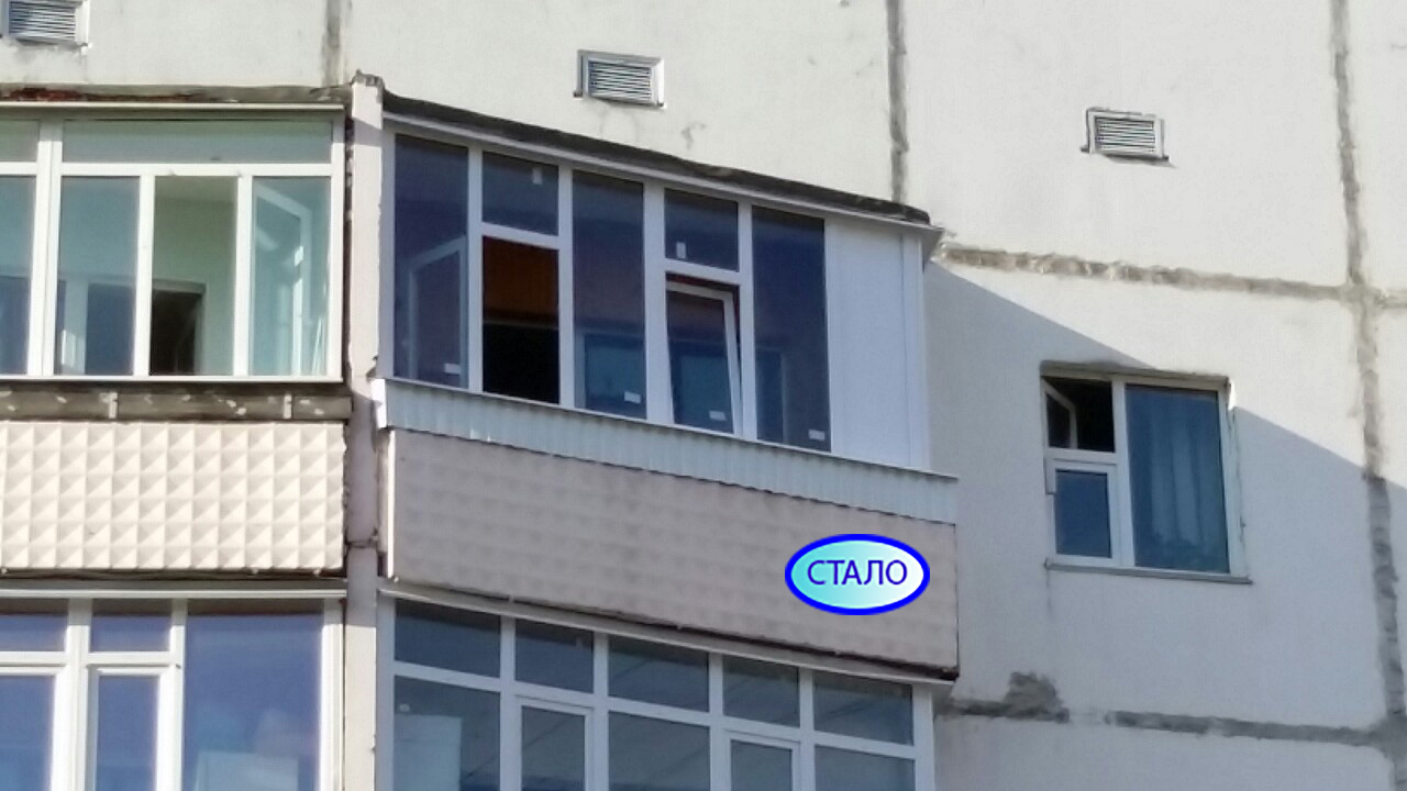 Мелик - карамова д. 64 Балкон после остекления